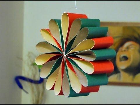 Adorno para navidad flor para colgar o decorar la mesa for Manualidades para hacer adornos de navidad