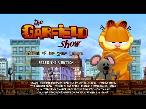 Garfield Show Threat of the Space Lasagna Wii Gameplay