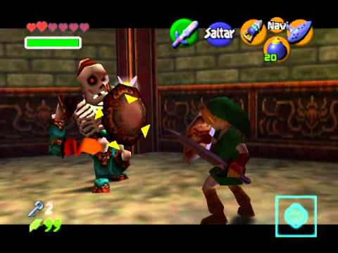 The legend of Zelda:Ocarina of time - Templo del Bosque (1/3) - espa�ol