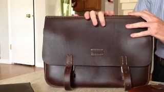 The Horween Swiss Military Saddlebag made by Coronado Leather of California