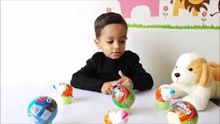 Surprise eggs   Kinder Joy Surprise eggs  Cadbury pokemon Gems   learn colors   Rhymes for kids