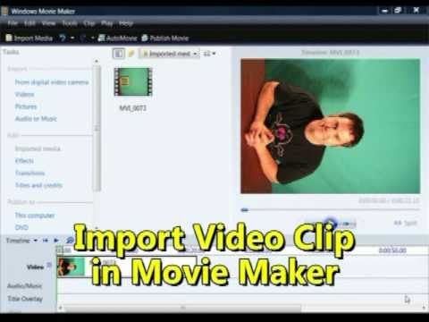 How to Rotate a Video in Windows Movie Maker