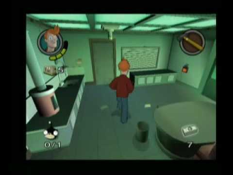 Futurama PS2 jugando con Fry