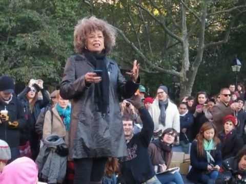 Angela Davis Occupy Wall St @ Washington Sq Park Oct 30 2011 General Strike November 2