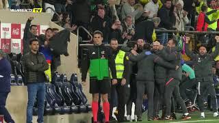 Celebración de los goles del Villarreal ante el Rayo
