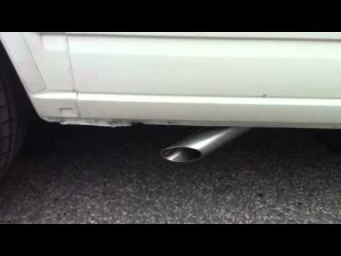 vw  transporter side exit exhaust youtube