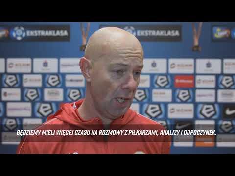 Trener Ben Van Dael Przed Meczem Jagiellonia Białystok - KGHM Zagłębie Lubin
