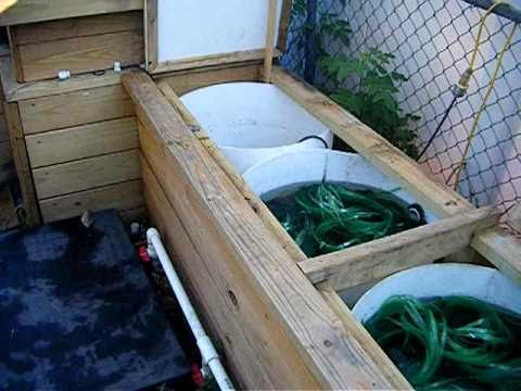 Home made pond bio filter for koi pond 3000 gallon