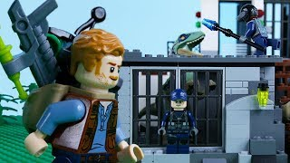 LEGO Jurassic World STOP MOTION LEGO Dinosaur Prison Break | LEGO Jurassic World | By Billy Bricks