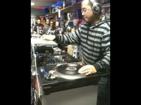 Beat juggle and scratch session with Dj Kid Dragon