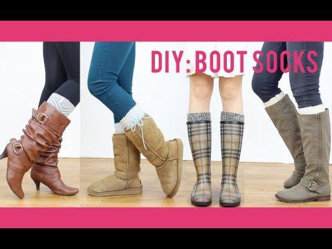 DIY Tutorial: Boot Socks   Miss Louie