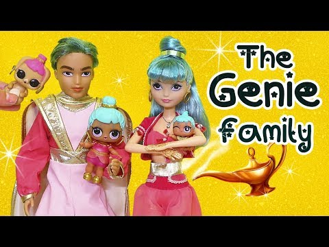 LOL Families ! The Genie Family and the Color Change Bunny ! Toys and Dolls Fun for Kids | SWTAD