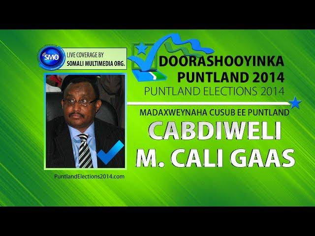 Puntland Elections 2014: Khudbadda Madaxweynaha cusub ee Puntland Dr. Abdiweli M. A. Gaas
