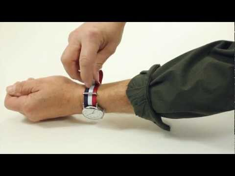 How to install a Military Nato / Zulu Style watch Strap Band by Clockwork Synergy. LLC