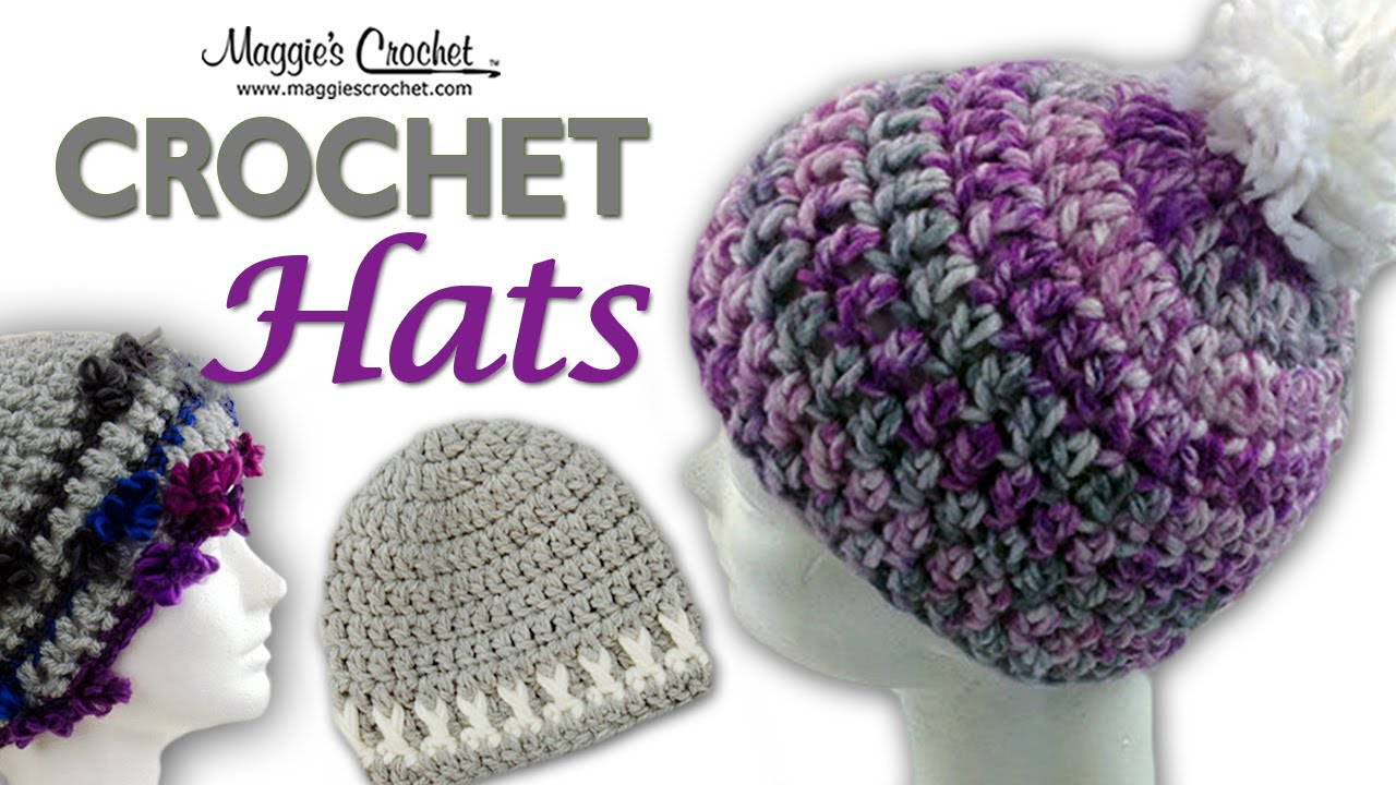 Crochet Patterns Youtube Hats : Serenity Pompom Hat Free Crochet Pattern - Right Handed - YouTube