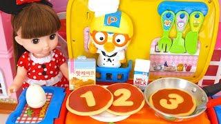Baby Doll Pancake Milk Egg Pororo Food Car Cooking Time Toy Soda