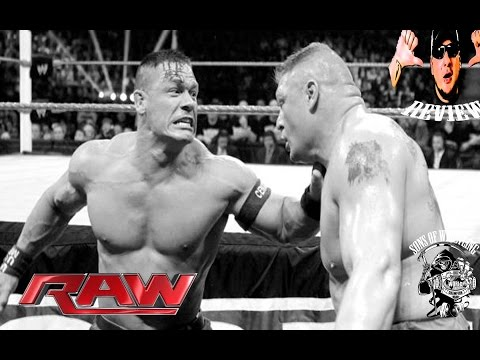 Wwe Raw 15 9 14 John Cena Breaks Brock Lesnars Nose Full Show Review Sept. 15 2014 video