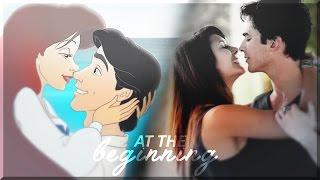 ● at the beginning || Damon & Elena / Eric & Ariel