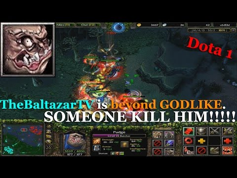 Pudge BEYOND GODLIKE HOOK - Dota 1