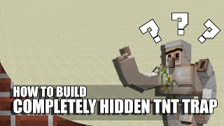 How To Build A Completely Hidden TNT Trap In Minecraft!