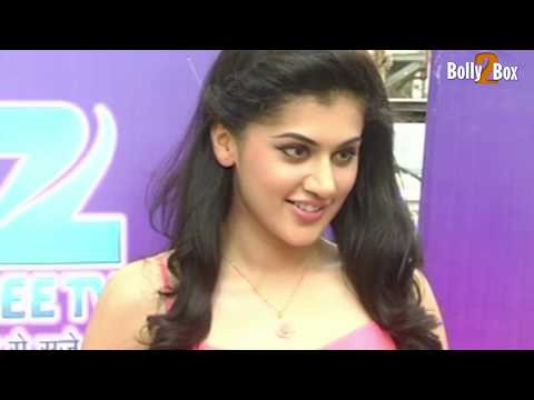 Cute Hot Taapsee Pannu in Pink Showing Her Silky Legs