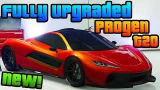 "GTA Online: Fully Upgraded ""Progen T20"" - ""Ill Gotten Gains"" Pt. 2 DLC Super Car! (GTA 5 DLC Car)"