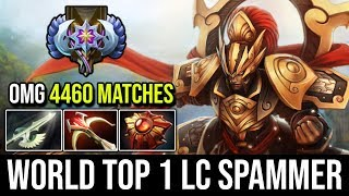 OMG 4,460 Matches Legion Commander | TOP 1 LC SPAMMER  IN THE WORLD Nonstop Duel + Solar Crest Dota2