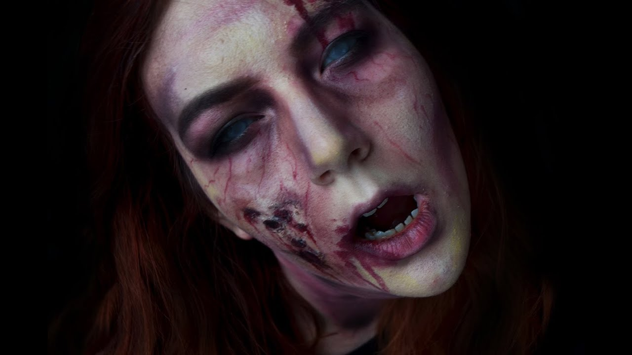 Easy Zombie Makeup Tutorial Halloween 2014 Katie ...