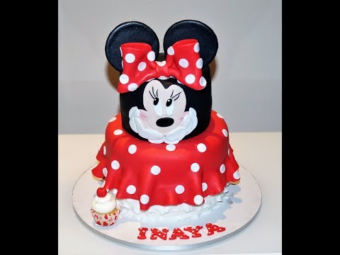 Cake decorating tutorials   how to make a MINNIE mouse cake   Sugarella Sweets