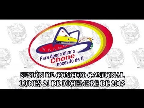 Sesión de Concejo - 21 DIC 2015