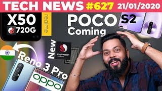 POCO S2 Confirmed?, realme X50 With SD720G,OPPO Reno 3 Pro 🇮🇳Launch, Redmi K30 Pro Spotted-TTN#627