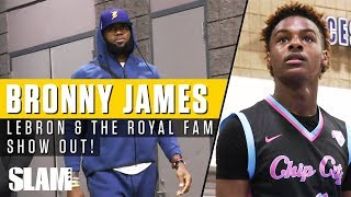 LeBron James & Royal Family Showed Out in Queen City for Bronny! 👑