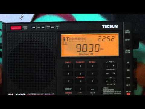 End of Vocie of Turkey 9830 Khz on  new Tecsun PL 680 Shortwave radio