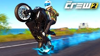 THE CREW 2 - NOVA MOTO de EMPINADA DUCATI DIAVEL!!! (SAIU CHOQUE)
