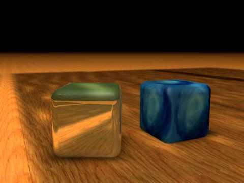 prueba iluminacion y cubos cinema 4d