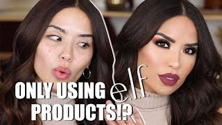 GLAMMED UP ONLY USING ELF PRODUCTS | iluvsarahii