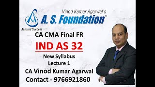 CA  CMA FINAL Financial Reporting Financial Instruments IND AS 32 Lect 1 by CA Vinod Kumar Agarwal