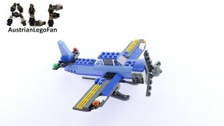 Lego Creator 31049 Single engine Airplane Twin Spin Helicopter Model 3of3 - Lego Speed Build Review