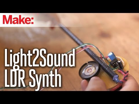 Weekend Projects - Light2Sound LDR Synth