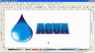 SPEED ART COREL DRAW: Gota de agua