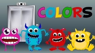 Learn Colors with funny monsters, Teach Colours, Baby Toddler Preschool