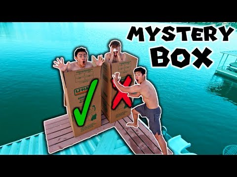 DONT Push the Wrong MYSTERY BOX into the Water! (you decide)