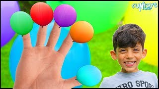 Learn Colors with Balloons Finger Family Nursery Rhymes for Kids