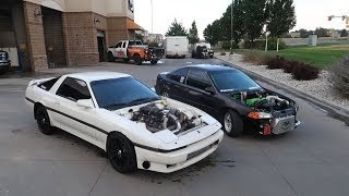 LS Swapped Supra Goes On Its First Cruise!
