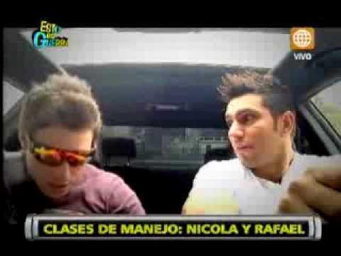 Esto es Guerra: Mira las clases de manejo entre Nicola y Rafael - 29/08/2013