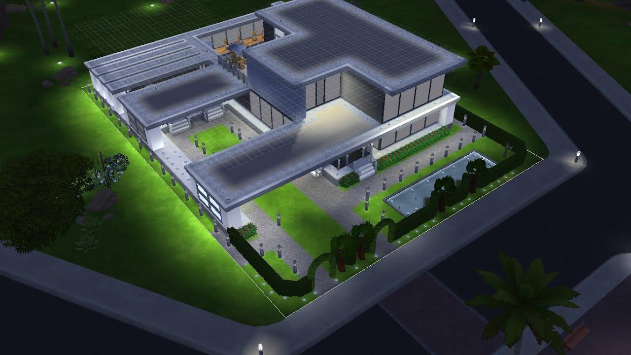 Casa moderna em the sims 4 youtube for Sims 4 modelli di casa moderna