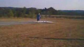 Ducted Fan Flying Wing Takeoff 7 Oct 07