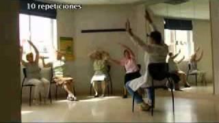 Ejercicios para la Tercera Edad .  ejercicios de hombros..wmv