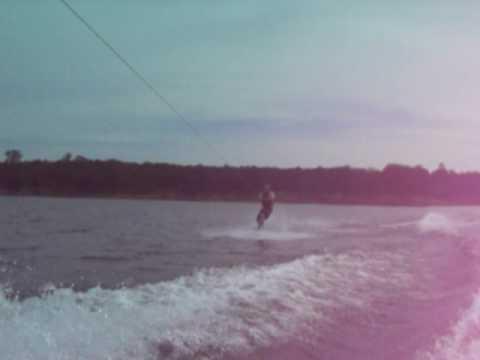 Jon wakeboarding and falling