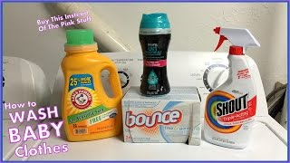 How To Wash Baby Clothes - What I Use To Do My Infants Laundry